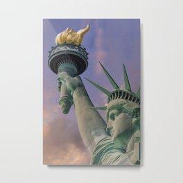 NEW YORK CITY Statue of Liberty at sunset Metal Print