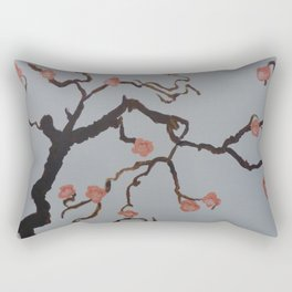 Japanese Cherry Blossoms Rectangular Pillow