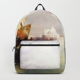 The Splendor of Venice, Italy landscape painting by Thomas Moran Backpack