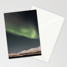 Aurora Borealis Northern Light Show In Norway Photo | Winter Night Art Print | Travel Photography Stationery Cards