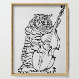 Tiger and Bass Serving Tray