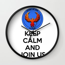 Kep Calm And Join Us Wall Clock