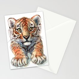 Playful Tiger Cub 907 Stationery Cards