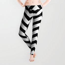Simple Chevron Pattern - Black & White - Mix & Match with Simplicity Leggings