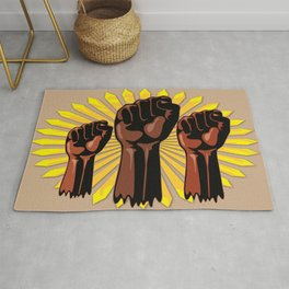 Black Power Raised Fists Rug