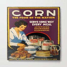 Vintage poster - Corn Metal Print
