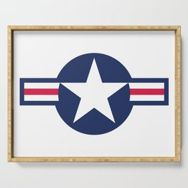 US Airforce style roundel star Serving Tray