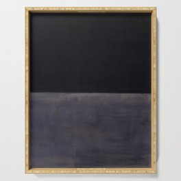 Untitled (Black on Grey) by Mark Rothko HD Serving Tray