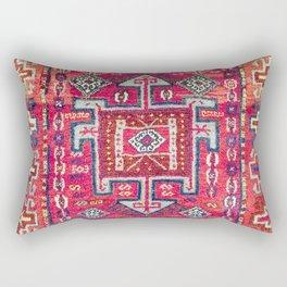 Malatya  Antique Kurdish Turkish Rug Print Rectangular Pillow