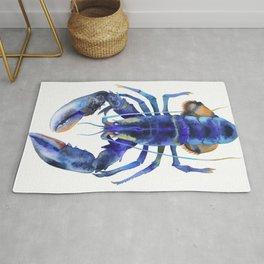 Blue Lobster №1 Rug