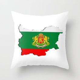 Bulgarian map Throw Pillow