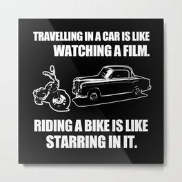 Motorbike Motorcycling Biker Metal Print