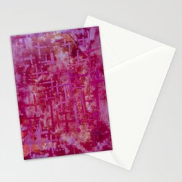 abstract red & pink Stationery Cards