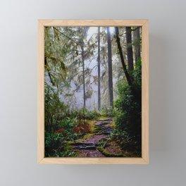 Walking Through Forest Fog Framed Mini Art Print