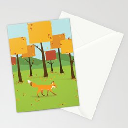 Fox in Fall Stationery Cards