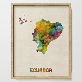 Ecuador Watercolor Map Serving Tray