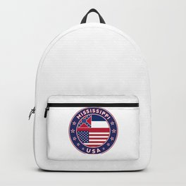 Mississippi, USA States, Mississippi t-shirt, Mississippi sticker, circle Backpack