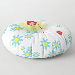 Fairies and Flowers Collection Floor Pillow