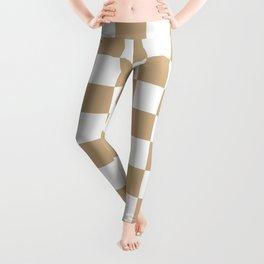 Checkered (Tan & White Pattern) Leggings