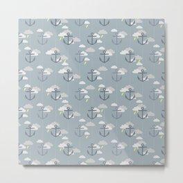 Stormy Nautical Pattern 2 Metal Print