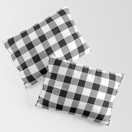 Buffalo Check - black / white Pillow Sham