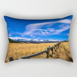 Distant Bighorns - Mountain Scenery in Northern Wyoming Rectangular Pillow