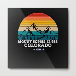 MOUNT SOPRIS Colorado Metal Print