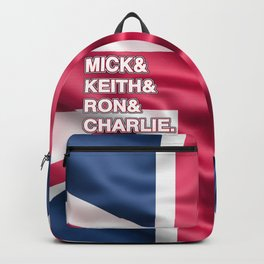 Rock and roll legends | for rock and roll fans | British Rock Backpack