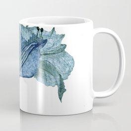 Chic Blue Flower Graphic Art Design Coffee Mug