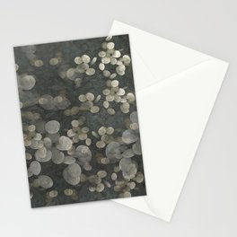 """""""Nacre pearls on silver river"""" Stationery Cards"""