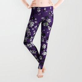 Cat Paws & Purple Leggings