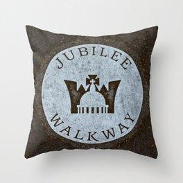 Queen's Jubilee Walkway Silver Walking Path near Buckingham Palace London England Throw Pillow