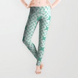 Green Celtic Knot Pattern Leggings