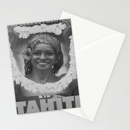 retro retro Tahiti poster Stationery Cards