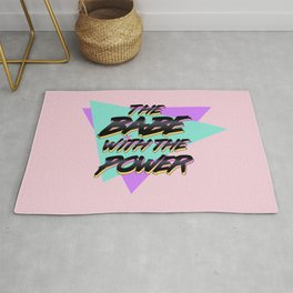 Babe With The Power - Black! Rug