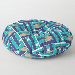Meeting of the seas Floor Pillow