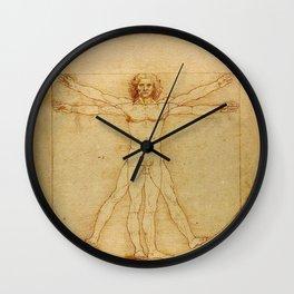 Vitruvian Man, Da Vinci Wall Clock