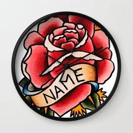 Name Rose Wall Clock
