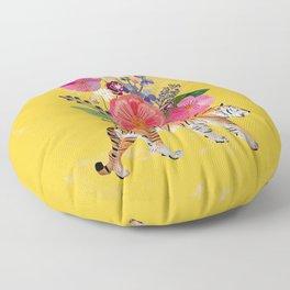 Tiger Bloom Floor Pillow