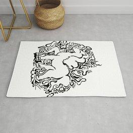 Unicorn Vector Illustration Rug