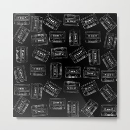 Audio Tape Pattern Metal Print