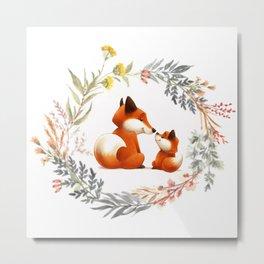 MOTHER FOX Metal Print