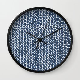 Hand Knit Navy Wall Clock
