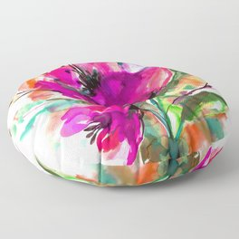 Serendipity 2A by Kathy Morton Stanion Floor Pillow