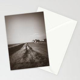 Walkin' on a Country Road, Sepia Stationery Cards