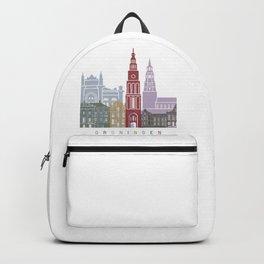 Groningen skyline poster Backpack
