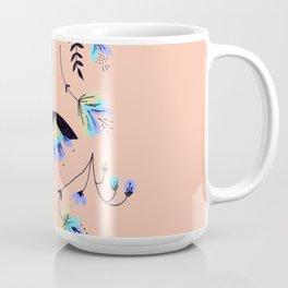 Mirrored Floral - Apricot Coffee Mug