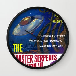 """The Sinister Serpents of Saturn VI"" Movie Poster Wall Clock"