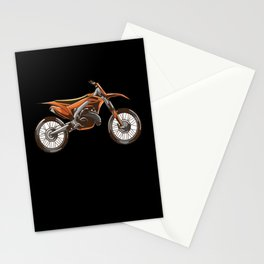 Off-road Motorcycle Rider Motocross Motif Stationery Cards