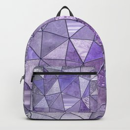 Purple Lilac Glamour Shiny Stained Glass Backpack